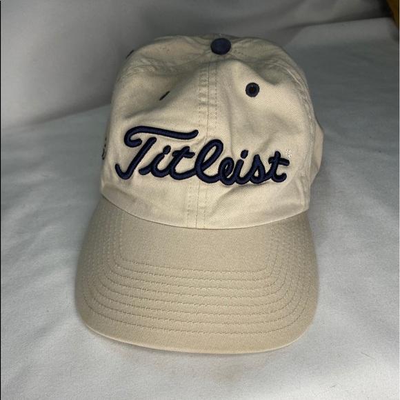 Titleist Mens Cream Notre Dame Golf Hat Adjustable